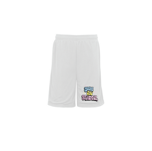 EASTER THROWIE MESH BASKETBALL SHORTS: WHITE