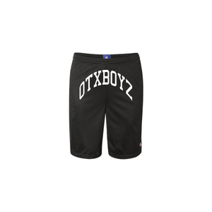 OTXBOYZ COLLEGE MESH BASKETBALL SHORTS: BLACK