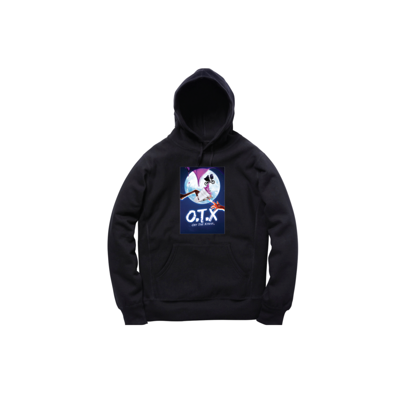 O.T.XTRATERRESTRIAL PULLOVER HOODY: BLACK