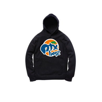 ORANGE SODA PULLOVER HOODY: BLACK