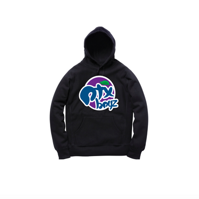 GRAPE SODA PULLOVER HOODY: BLACK