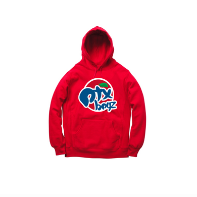 STRAWBERRY SODA PULLOVER HOODY: RED