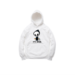 DEATH PULLOVER HOODY: WHITE