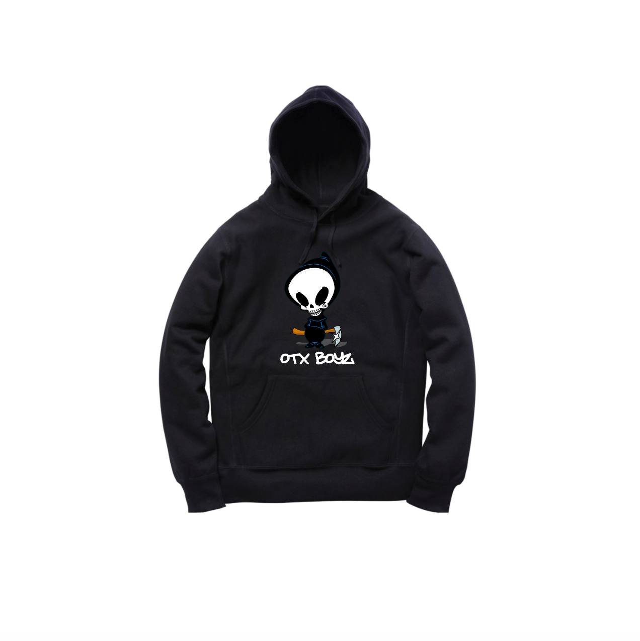 DEATH PULLOVER HOODY: BLACK