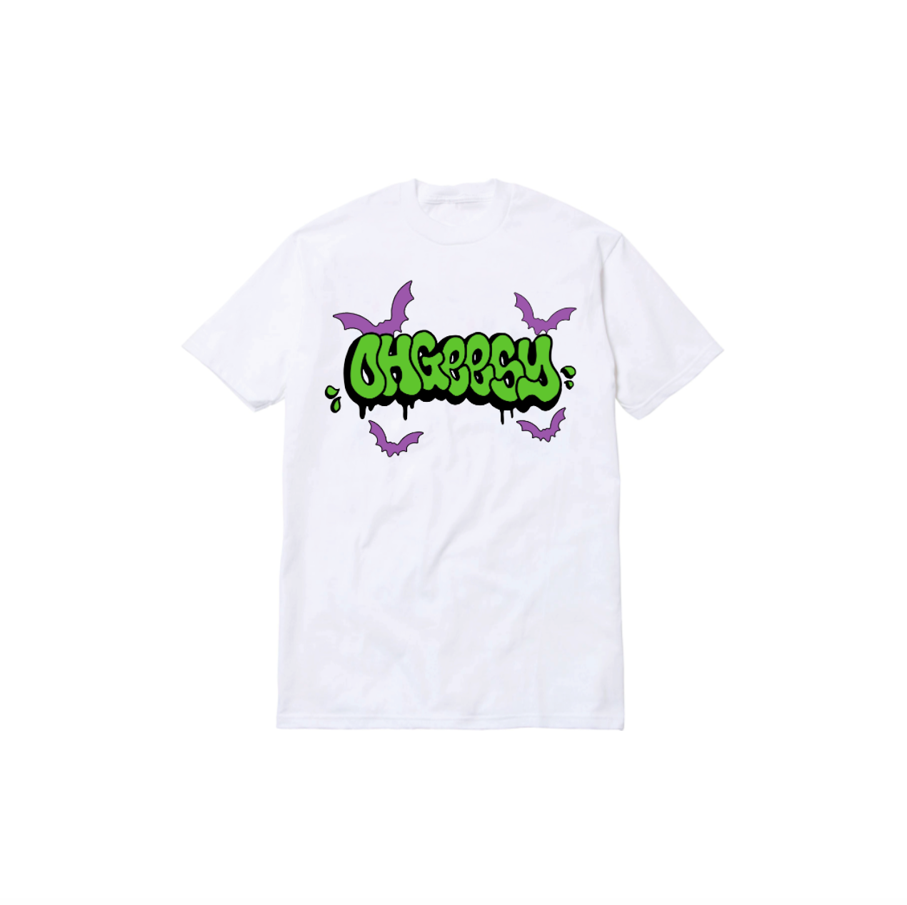 HAUNTED THROWIE TEE: WHITE