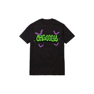 HAUNTED THROWIE TEE: BLACK