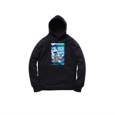MINI GHOST MELLOWS TODDLER PULLOVER HOODY: BLACK