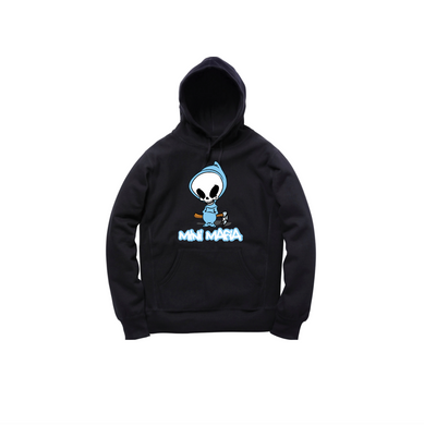 DEATH TODDLER PULLOVER HOODY: BLACK/BABY BLUE