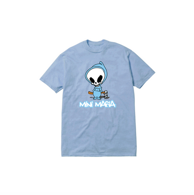 TODDLER DEATH TEE: BABY BLUE
