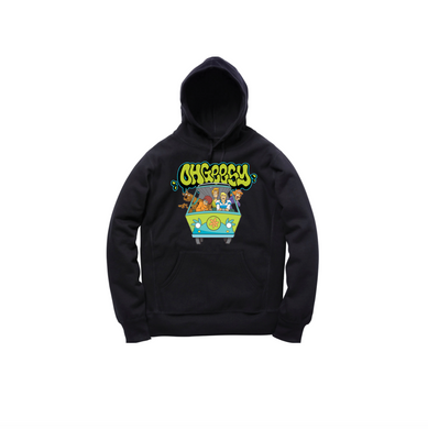 GANG THROWIE TODDLER PULLOVER HOODY: BLACK