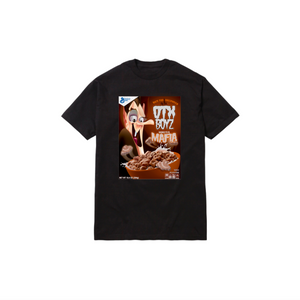 MINI COUNT CEREAL TODDLER TEE: BLACK