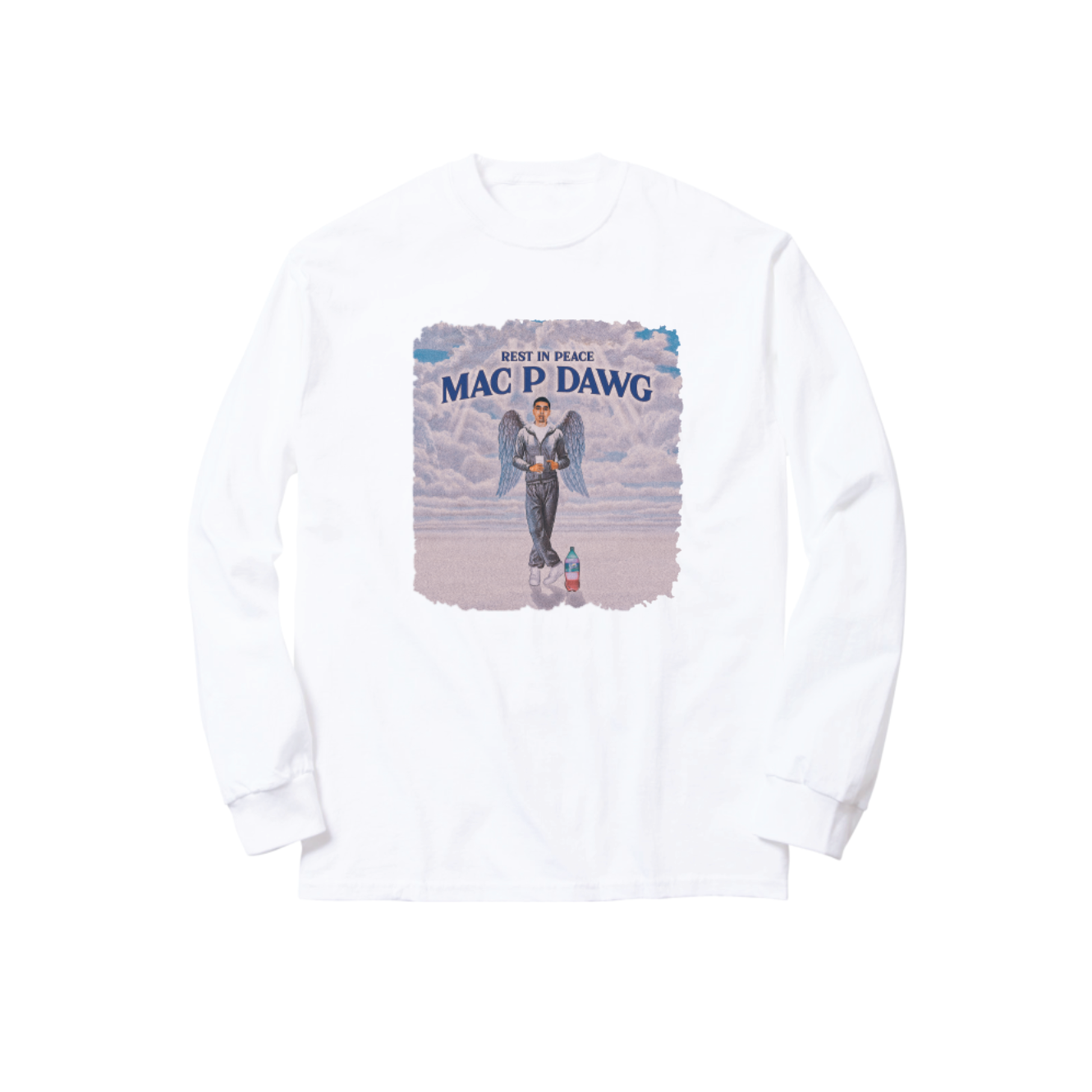 MAC P ANGEL LONGSLEEVE TEE: WHITE