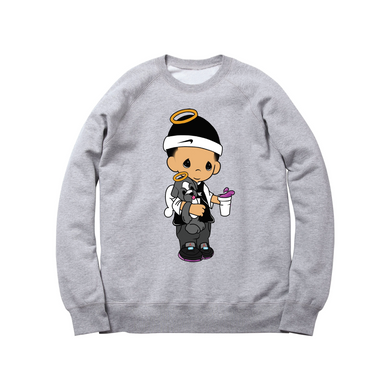 JOSHY MOMENTS CREWNECK SWEATSHIRT: HEATHER GREY