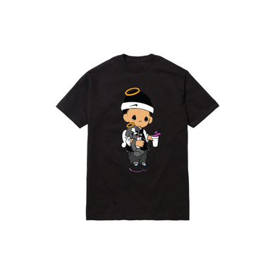 JOSHY MOMENTS TEE: BLACK