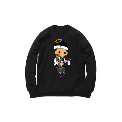 JOSHY MOMENTS CREWNECK SWEATSHIRT: BLACK
