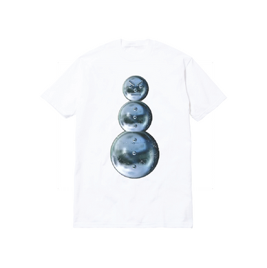 CHROME SNOWMAN TEE: WHITE