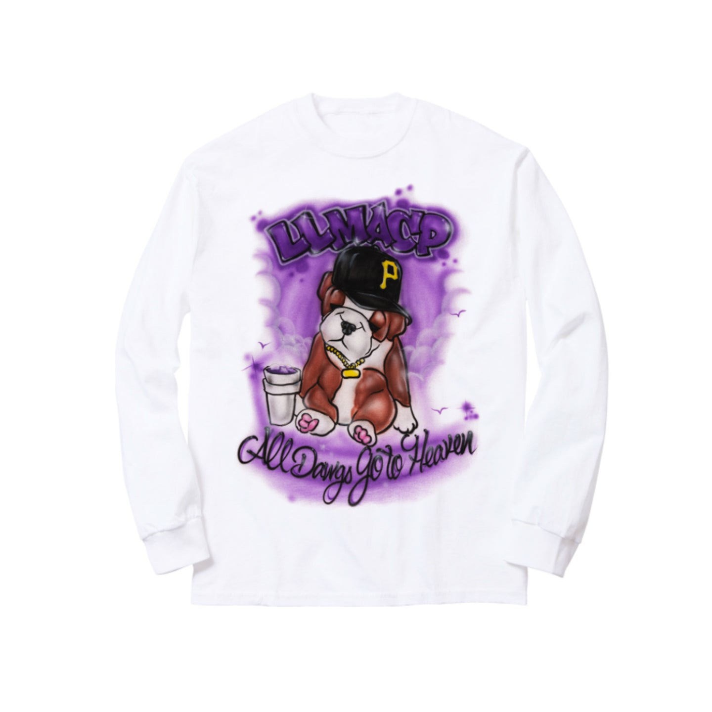 LONG LIVE MAC P LONG SLEEVE TEE: WHITE