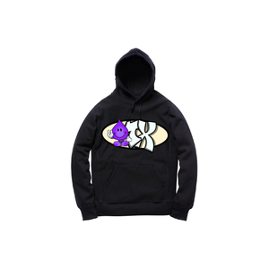 GEEZY INDUSTREETZ HOODY: BLACK/PURPLE