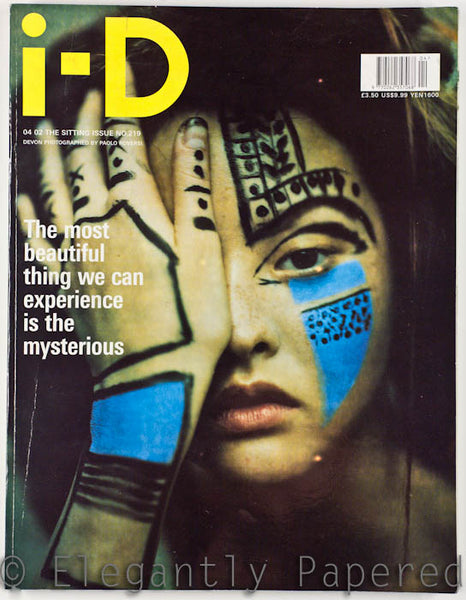 iD Magazine The Sitting Issue. No. 219. April 2002