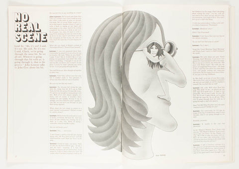 An Interview with John Lennon. Illustration by Alan Aldridge.