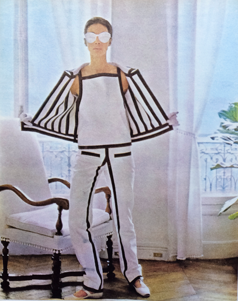 Courreges in Sunday Times Magazine Observer