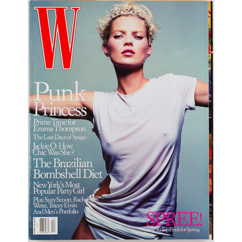 Kate Moss Punk Princess Emma Thompson W Magazine April 2001
