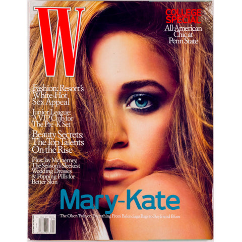 Mary Kate Olsen Jay McInerney Penn State W Magazine January 2006