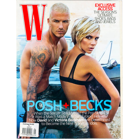 Victoria and David Beckham Steven Klein Doutzen Kroes W Magazine August 2007