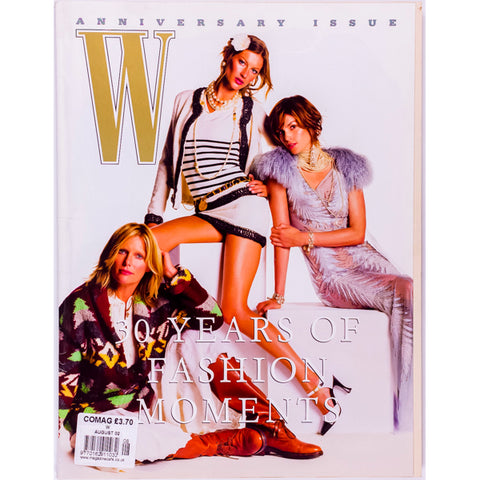 Gisele Bundchen Cindy Crawford Kate Hudson 30 Years W Magazine August 2002