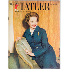 The Queens Coronation Mrs Hans Larive The Tatler Magazine 4th April 1956