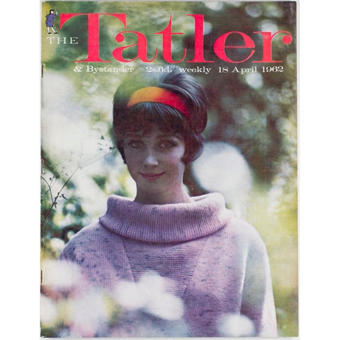 Wool Jumper in a forest Tatler Magazine 18th April 1962