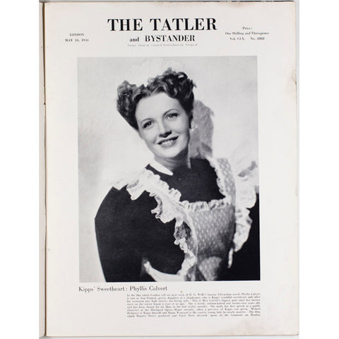 Kipps Sweetheart Phyllis Calvert Tatler Magazine 14th May 1941