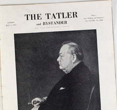 Winston Churchill Cover WWII The Blitz The Tatler Magazine May 1943