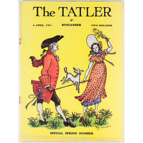 Dancing Lamb Spring Number The Tatler Magazine 4th April 1951