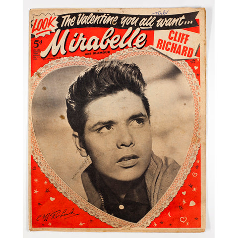 Cliff Richard Mirabelle teen Magazine Valentine 1960