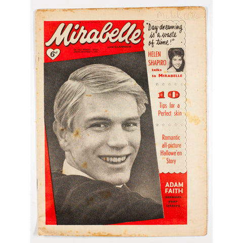 Adam Faith Helen Shapiro Mirabelle teen magazine November 1961