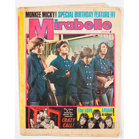 Mickey Dolenz of The Monkees and The Love Affair Mirabelle 1968