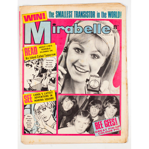 The Bee Gees Smallest transistor radio Mirabelle teen magazine 1967