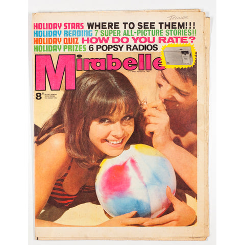 Mirabelle on the beach (ball) cover August 1967