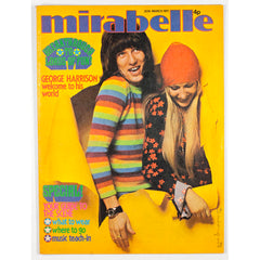 George Harrison's world Yellow cover Mirabelle teen Magazine 1971