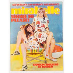 On the beach with deck chairs Mirabelle Teen Magazine 1975
