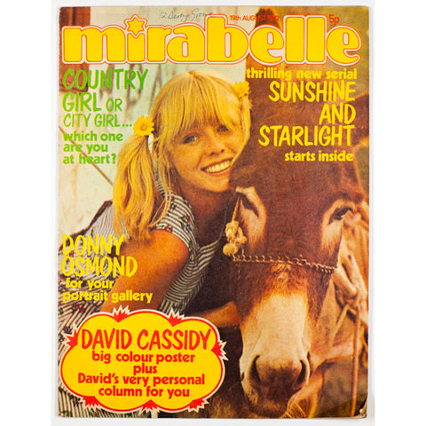 Donny Osmond David Cassidy Mirabelle Country girl cover August 1972