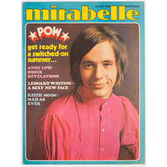Keith Moon Andy Low Leonard Whiting Mirabelle teen magazine July 1969