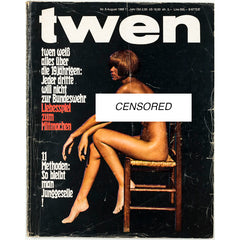 TWEN German Mens magazine Classic Design August 1969