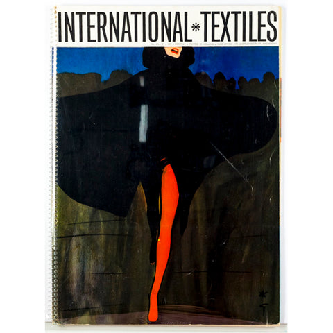 Rene Gruau International Textiles Number 474 1971 Rare Illustration