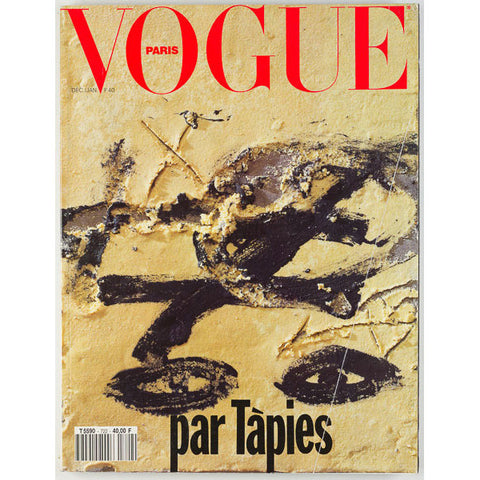Antoni Tapies edits Paris Vogue Christmas Issue Very Rare
