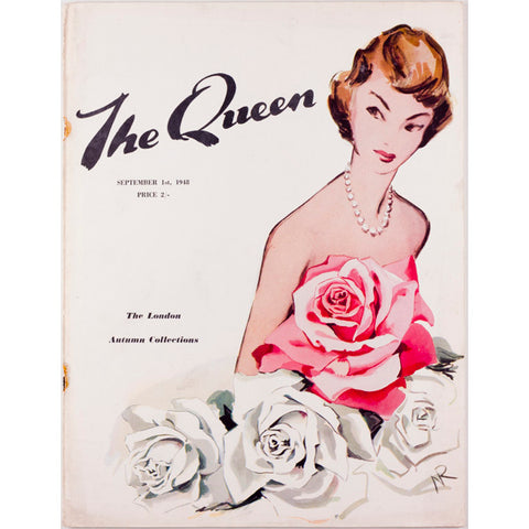 The Queen 1st September 1948 Vintage Fashion Illustration - London Autumn Collections