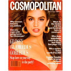 Cindy Crawford Cosmopolitan magazine December 1988