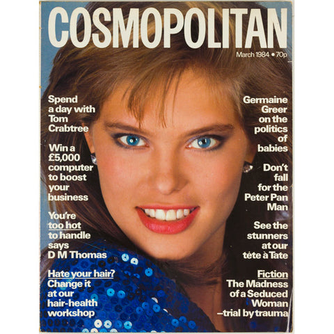 Rene Simonson Germaine Greer Cosmopolitan Magazine March 1984