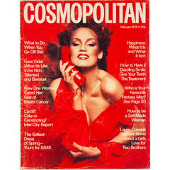 Jerry Hall Bill King Steve Hiett Gore Vidal UK Cosmopolitan magazine February 1976